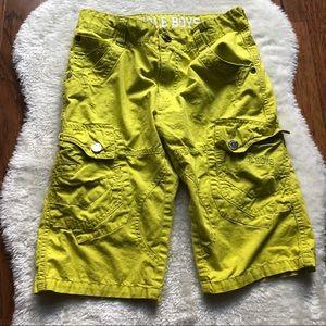 Boys cargo shorts adjustable waist size 10